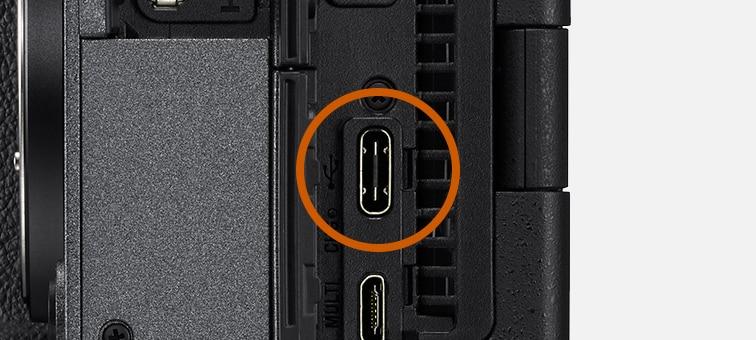 Kuva USB Type C -liittimestä FX3:ssa