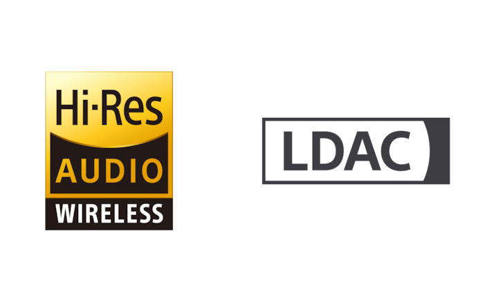 Hi-Res Audio wireless- ja LDAC-logo
