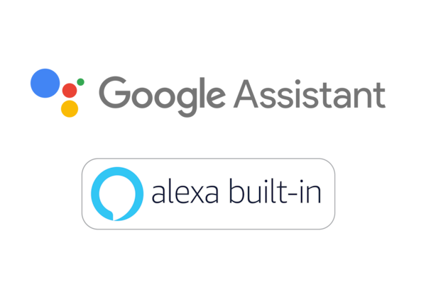 Google Assistant- ja Amazon Alexa -logot