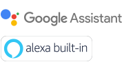 Google Assistant- Alexa Built-in -logot