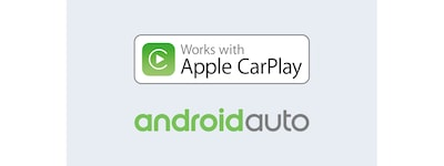 Apple CarPlay- ja Android Auto -logot