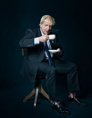 kenton-thatcher-sony-alpha-7RII-boris-johnson-sipping-a-cup-of-tea-wearing-union-jack-socks